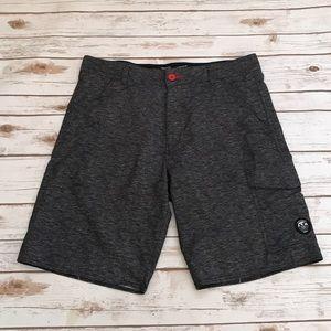 Vans Vanphibian Mens Charcoal Black Shorts